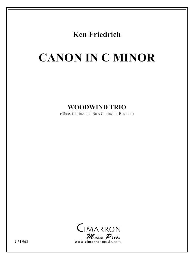 Friedrich - Canon - Woodwind Trio