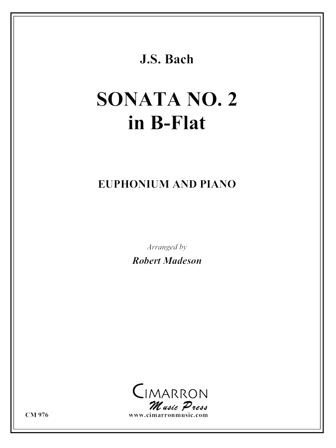 Bach, J S - Sonata No. 2 in Eb - Euphonium and Piano