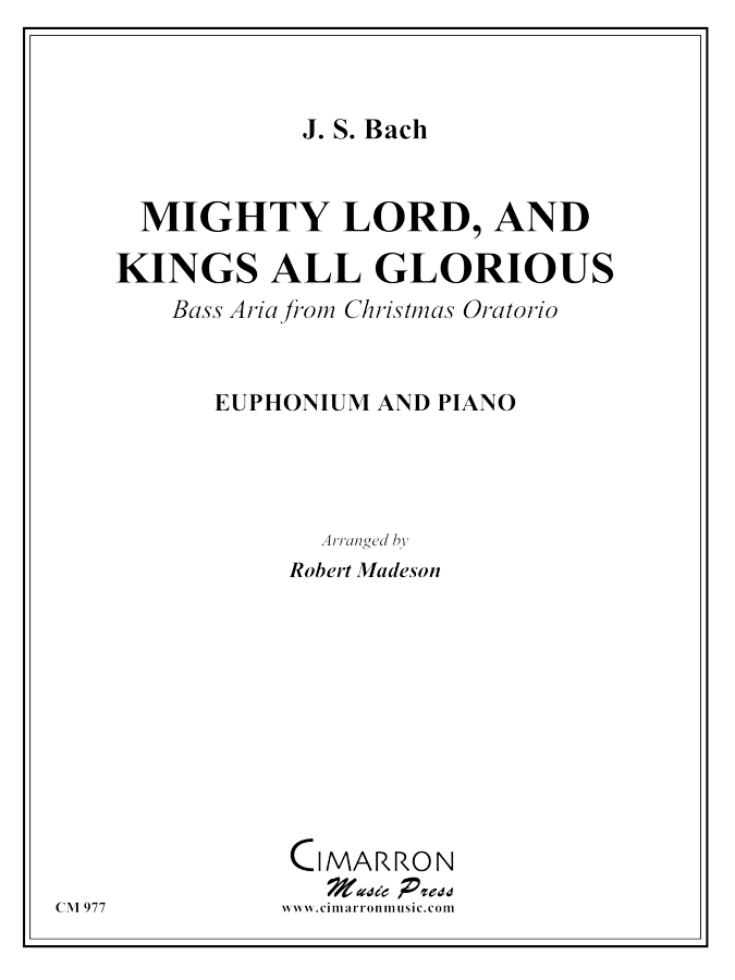 Bach, J S - Mighty Lord, and King All-Glorious - Euphonium and Piano