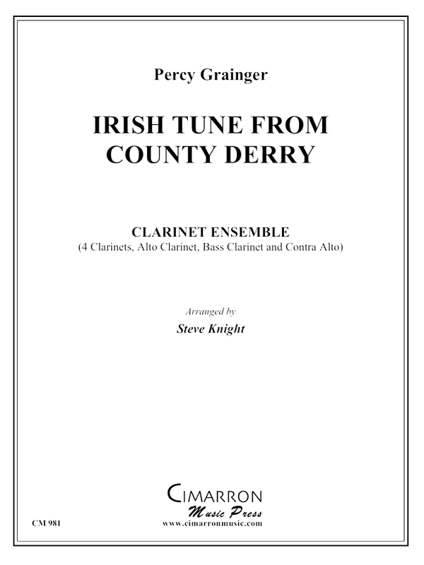 Grainger, P - Irish Tune From County Derry - Clarinet Choir
