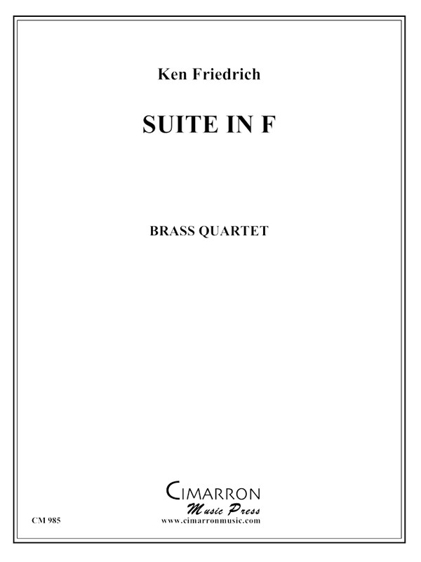 Friedrich - Suite in F - Brass Quartet