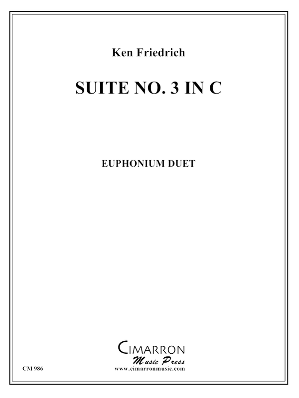 Friedrich - Suite No. 3 in C - Euphonium Duet