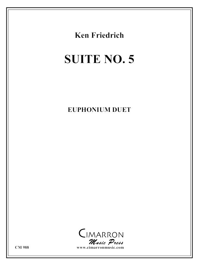 Friedrich - Suite No. 5 - Euphonium Duet