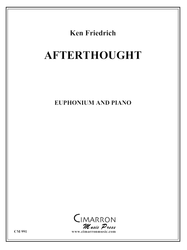 Friedrich - Afterthought - Euphonium and Piano