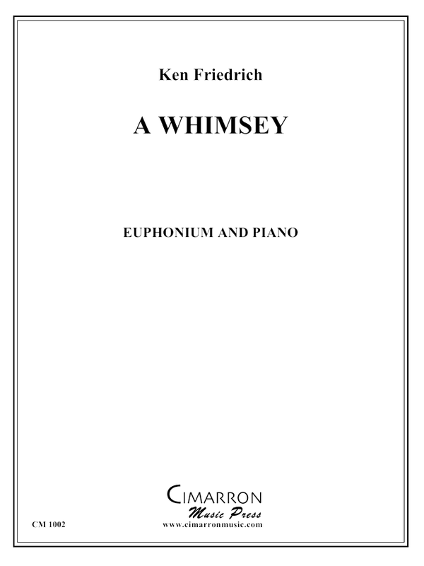Friedrich - Whimsy, A - Euphonium and Piano