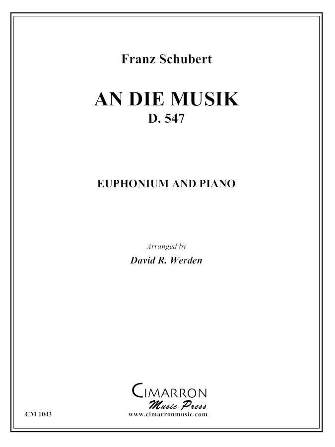 Schubert - An die Musik - Euphonium and Piano