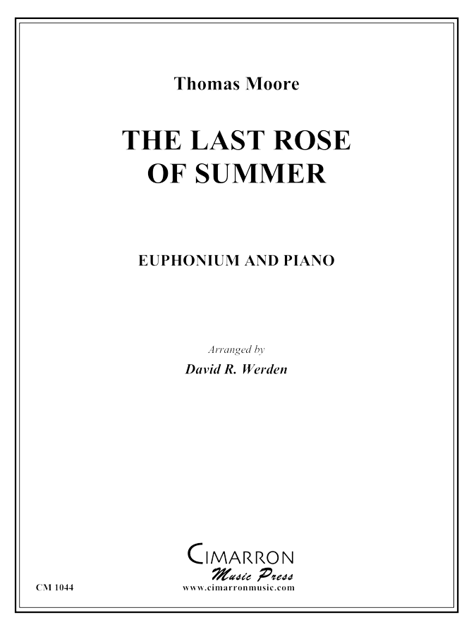 Moore - The Last Rose of Summer - Euphonium and Piano
