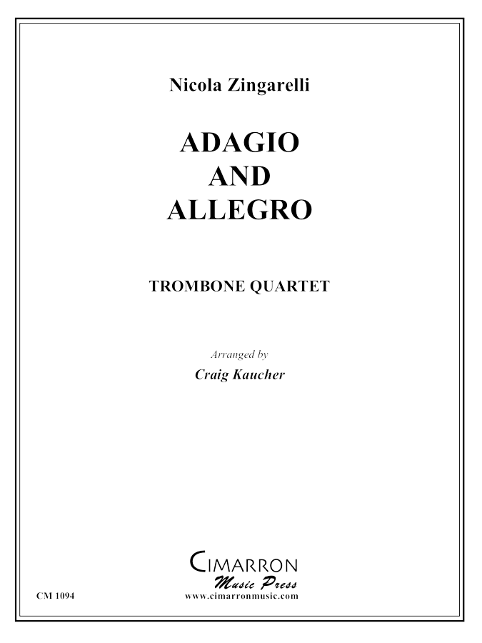 Zingarelli - Adagio and Allegro - Trombone Quartet
