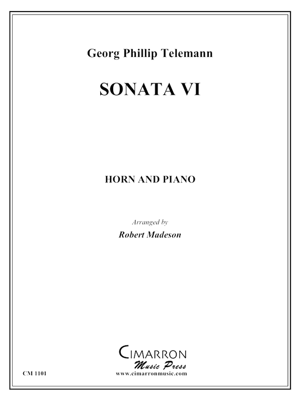 Telemann - Sonata VI - Horn and Piano