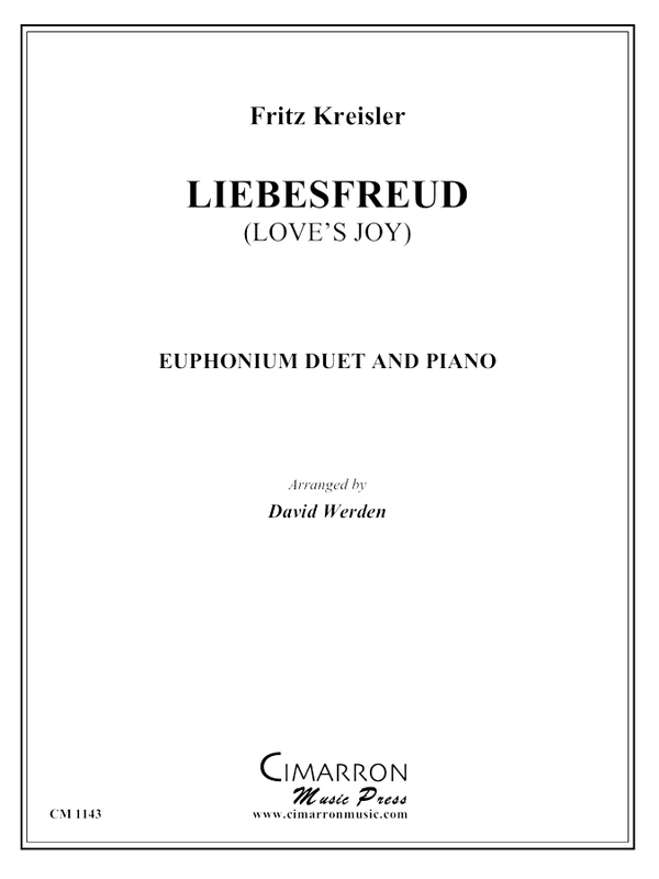 Kreisler - Liebesfreud (Love's Joy) - Euphonium Duet and Piano
