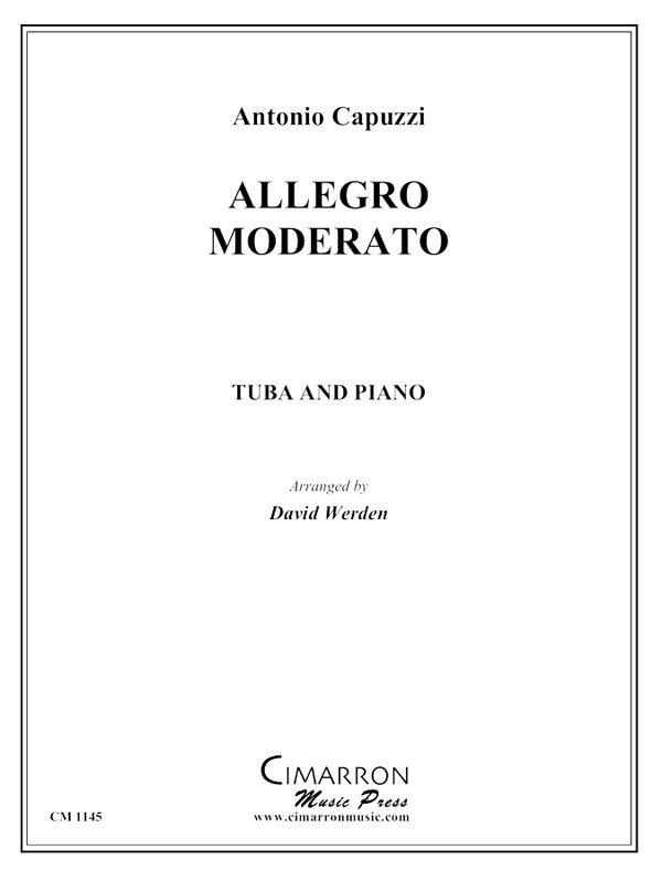 Capuzzi, A - Allegro Moderato - Tuba and Piano