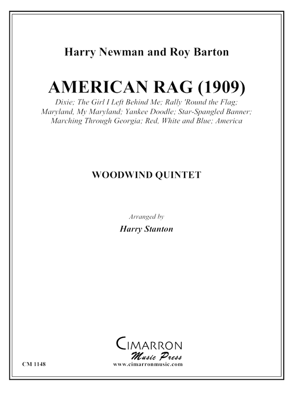 Newman and Barton - American Rag - Woodwind Quintet