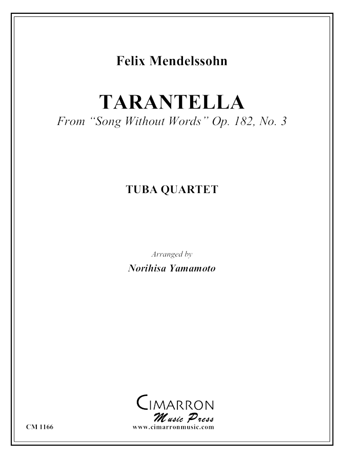 Mendelssohn - Tarantella, from Song Without Words, Op 182, No 3 - Tuba Quartet (EETT)