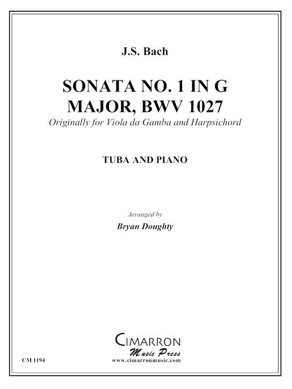 Bach, J S - Sonata BWV 1027 - Tuba and Piano
