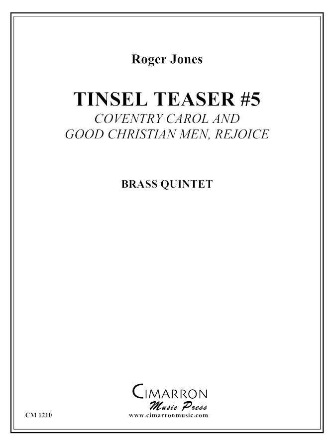 Jones - Tinsel Teaser #5 - Brass Quintet