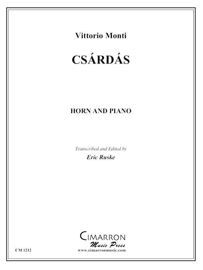Monti - Csardas - Horn and Piano
