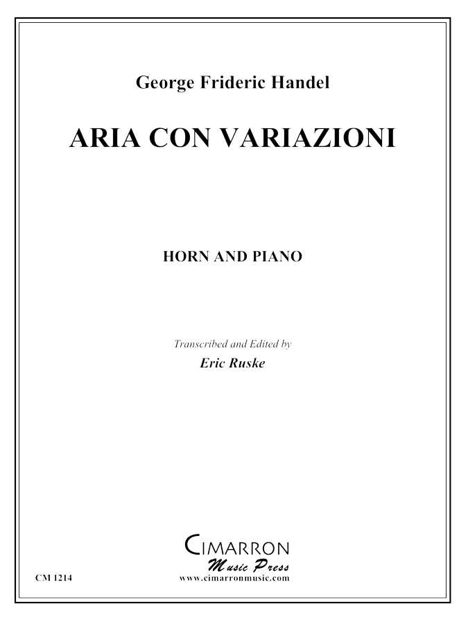 Handel - Aria con Variazoni - Horn and Piano