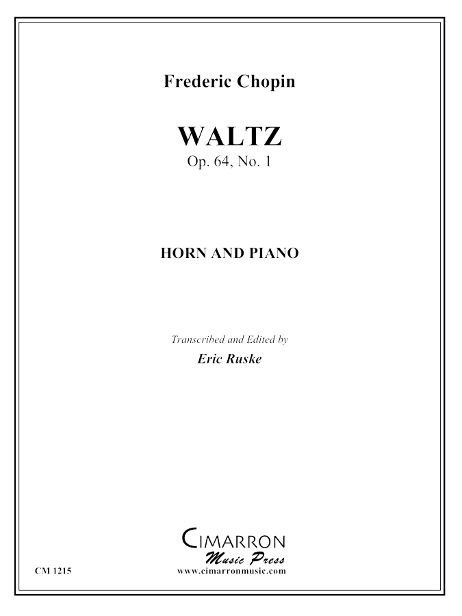 Chopin, F - Waltz, Op. 64, No. 1 - Horn and Piano
