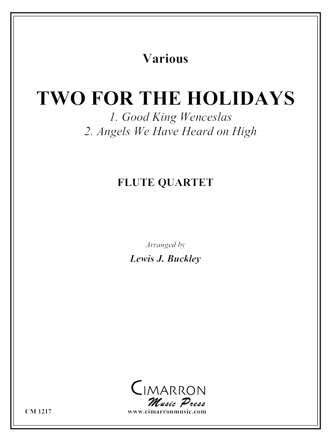 Multiple - Two for the Holidays - Flute Quartet