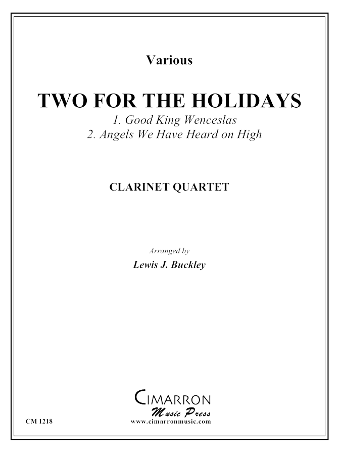 Various - Two for the Holidays - Clarinet Quartet