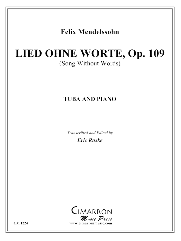 Mendelssohn - Lied Ohne Worte, Op. 109 - Tuba and Piano