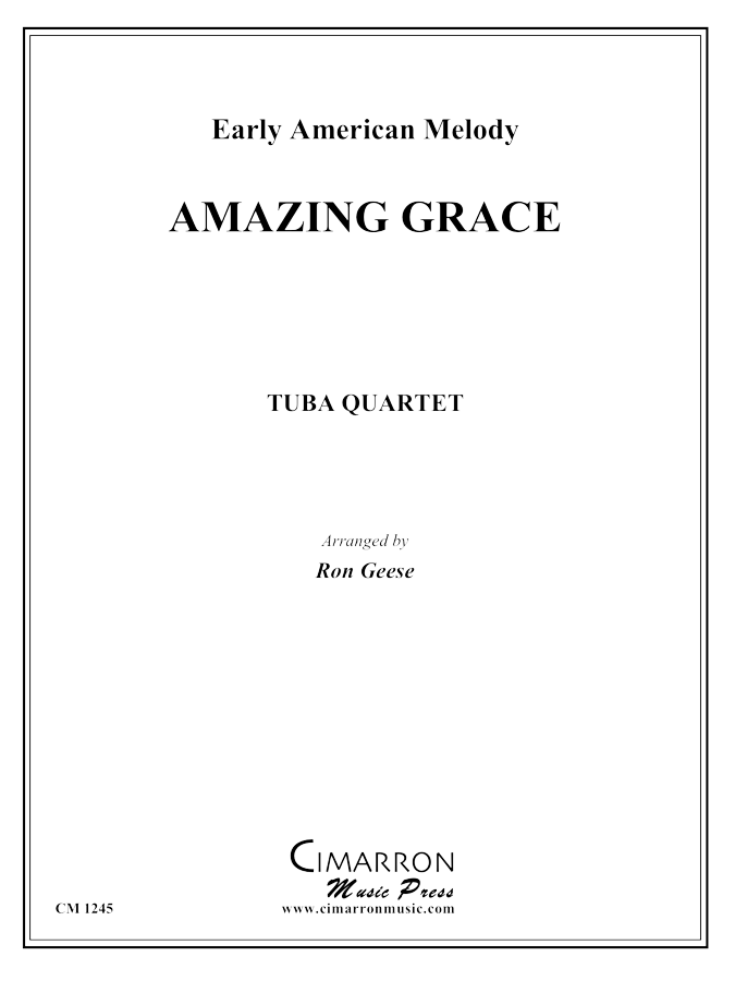 Traditional - Amazing Grace - Tuba Quartet