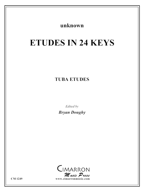 Unknown - Etudes in 24 Keys - Tuba Methods