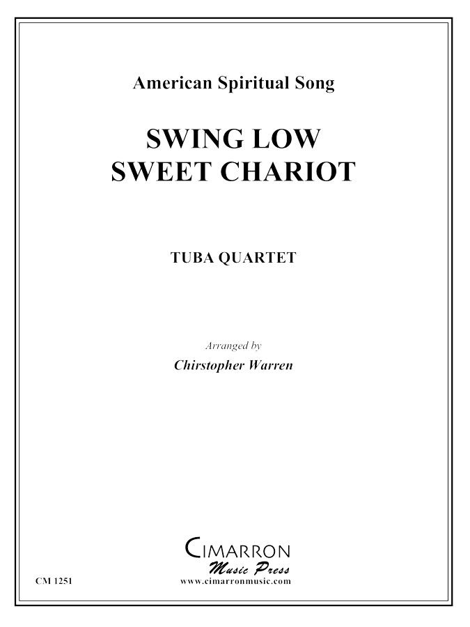 American Spiritual Song - Swing Low, Sweet Chariot - Tuba Quartet