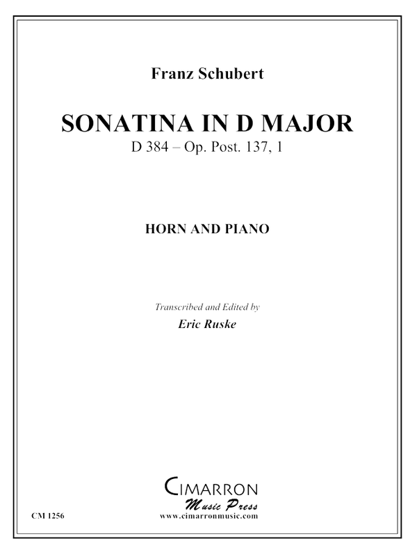 Schubert - Sonatina in D Major - Horn and Piano