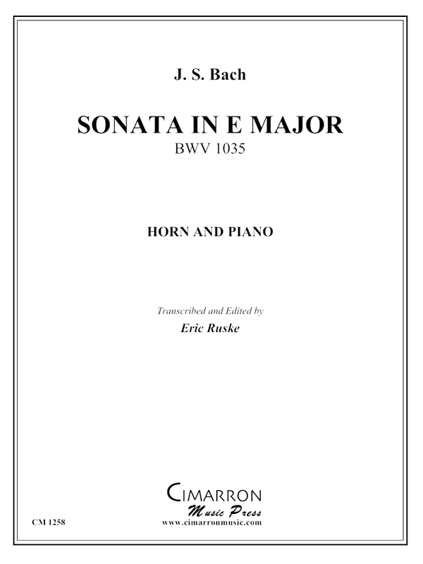 Bach, J S - Sonata in E Major, BMV 1035 - Horn Solo