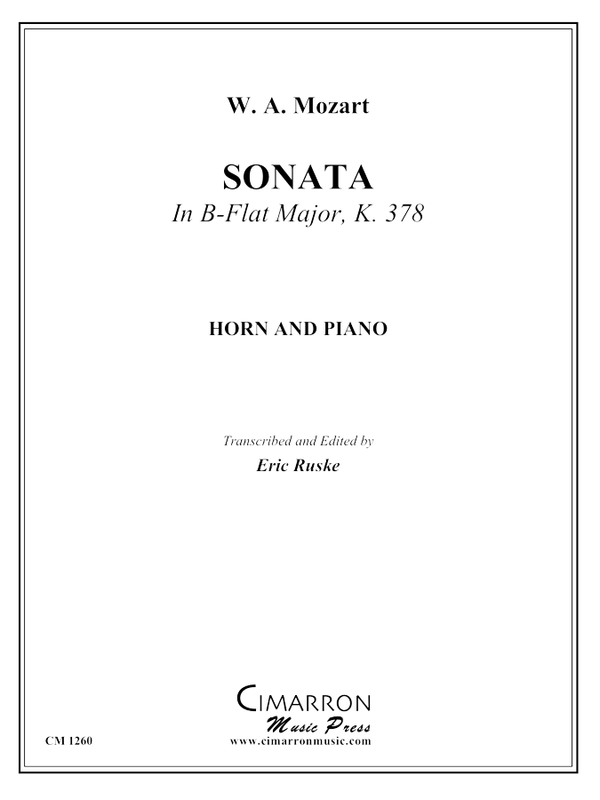 Mozart - Sonata in B-Flat Major, KV 378 - Horn and Piano