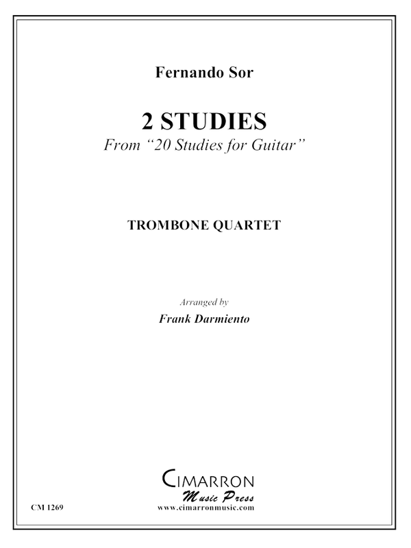 Sor - Two Studies - Trombone Quartet
