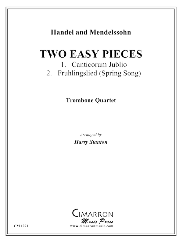 Handel and Mendelssohn - Two Easy Pieces - Trombone Quartet