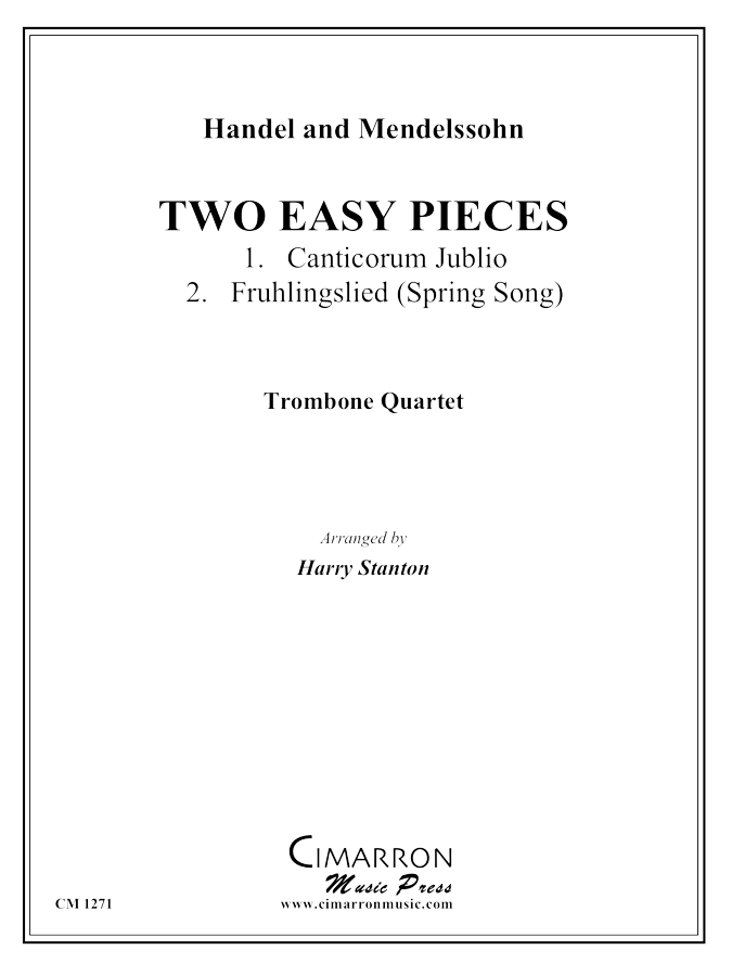 Handel, G F and Mendelssohn, F - Two Easy Pieces - Trombone Quartet