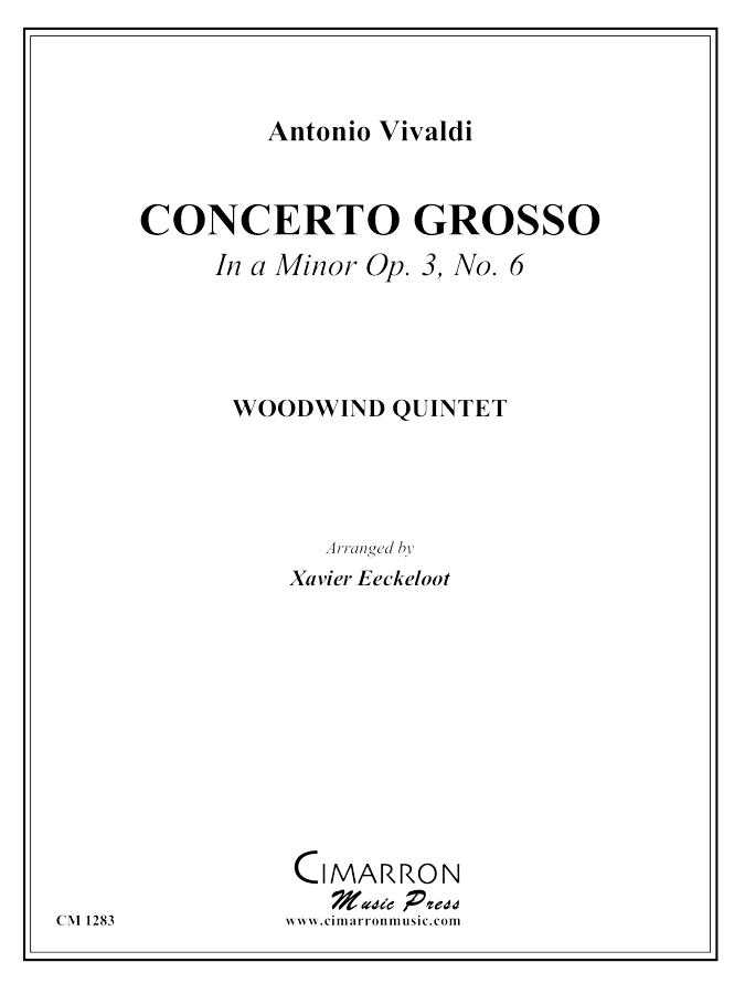 Vivaldi - Concerto Grosso in A Minor - Woodwind Quintet