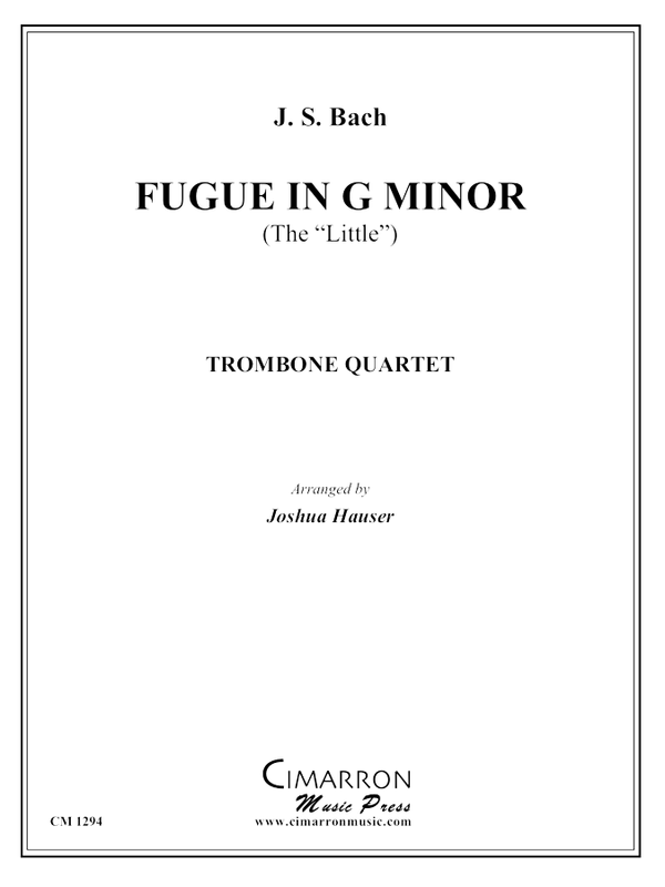 Bach, J S - Fugue in G Minor (Little) - Trombone Quartet