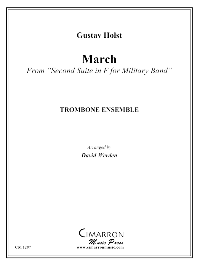 Holst - March from Military Suite in F - Trombone Ensemble