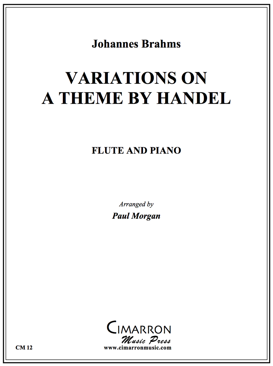 Brahms -Variations on a Theme by Handel - Flute and Piano