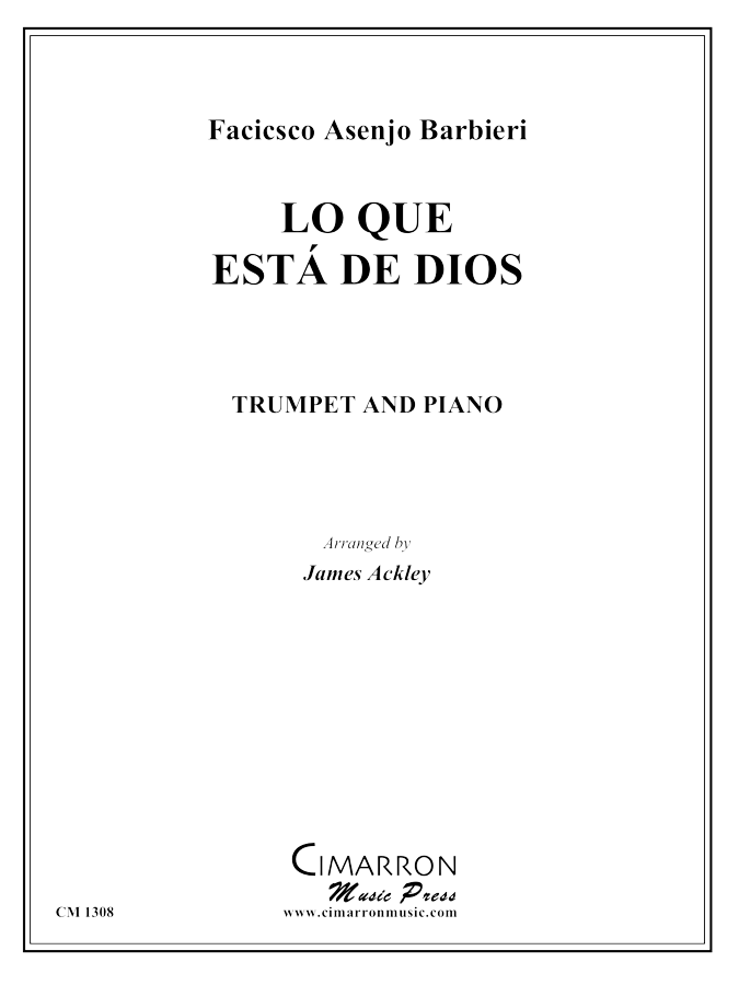Barbieri - Lo Que Esta de Dios - Trumpet and Piano