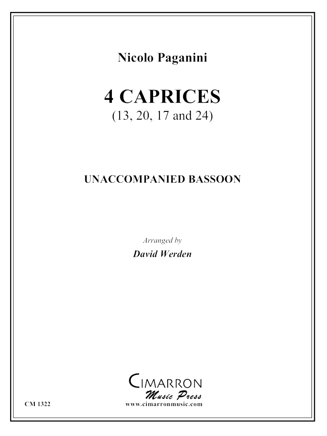 Paganini - Four Caprices - Bassoon solo