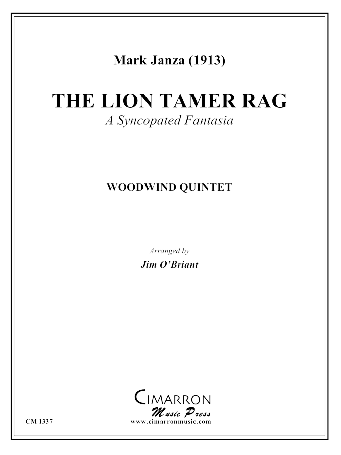 Janza - The Lion Tamer Rag - Woodwind Quintet
