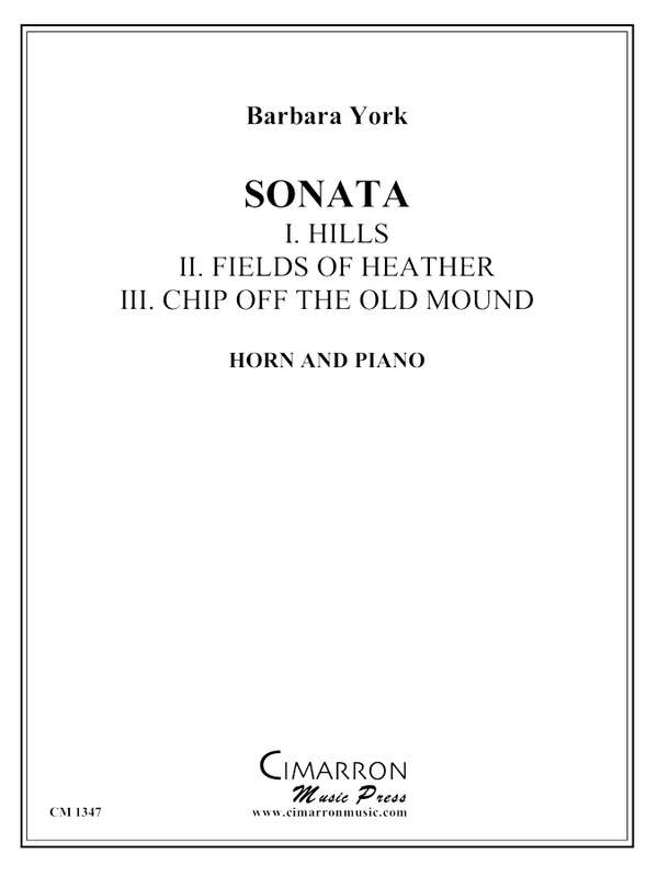 York, Barbara - Sonata for Horn - Horn and Piano