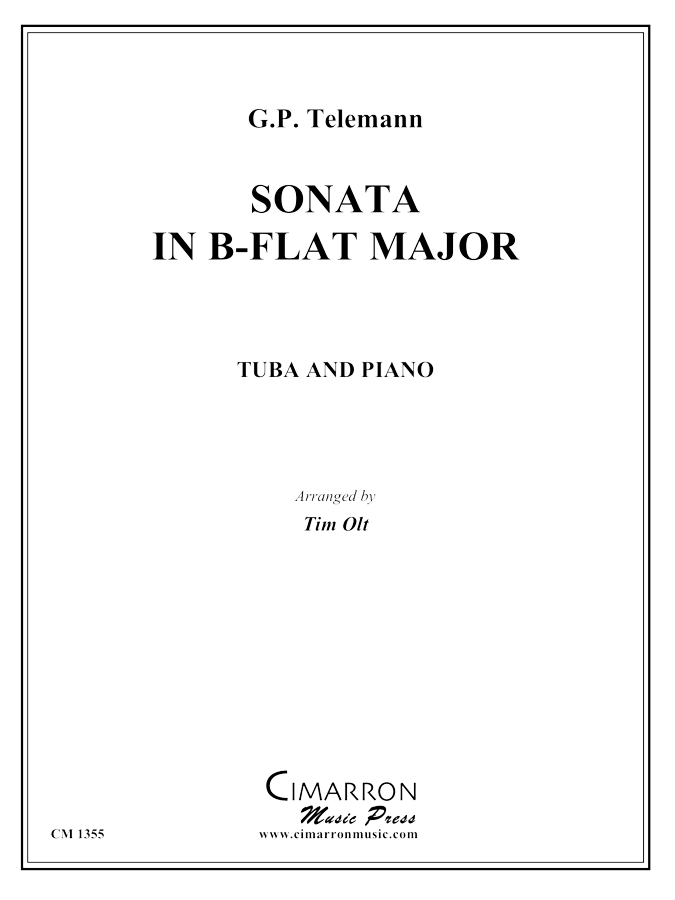 Telemann - Sonata in B-flat Major - Tuba and Piano