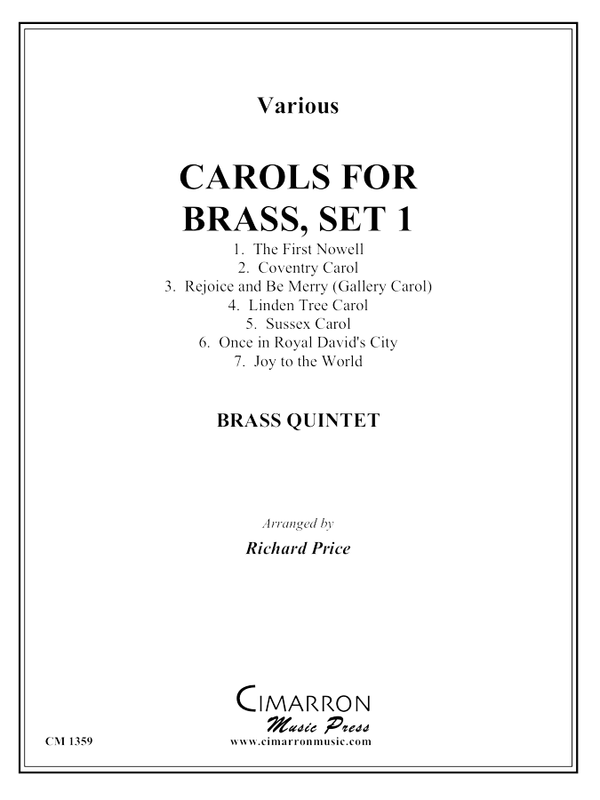 various - Carols for Brass, Set 1 - Brass Quintet