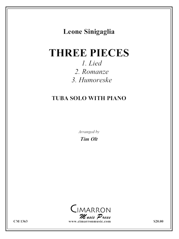 Sinigaglia - Three Pieces - Tuba and Piano