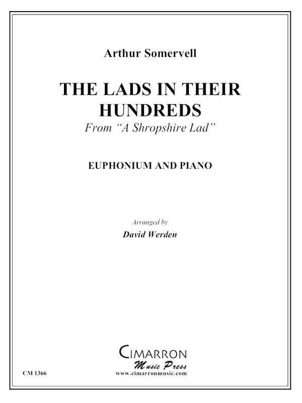 Somervell - The Lads in Their Hundreds - Euphonium and Piano