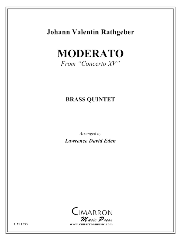 "Rathgeber - Moderato from ""Concerto XV"" - Brass Quintet"