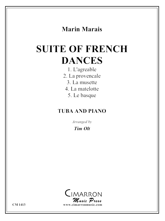 Marais - Suite of French Dances - Tuba and Piano