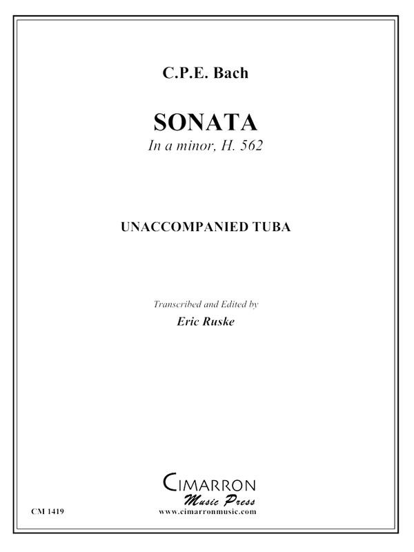 Bach, CPE - Sonata in a minor, H. 562 - Tuba Unaccompanied