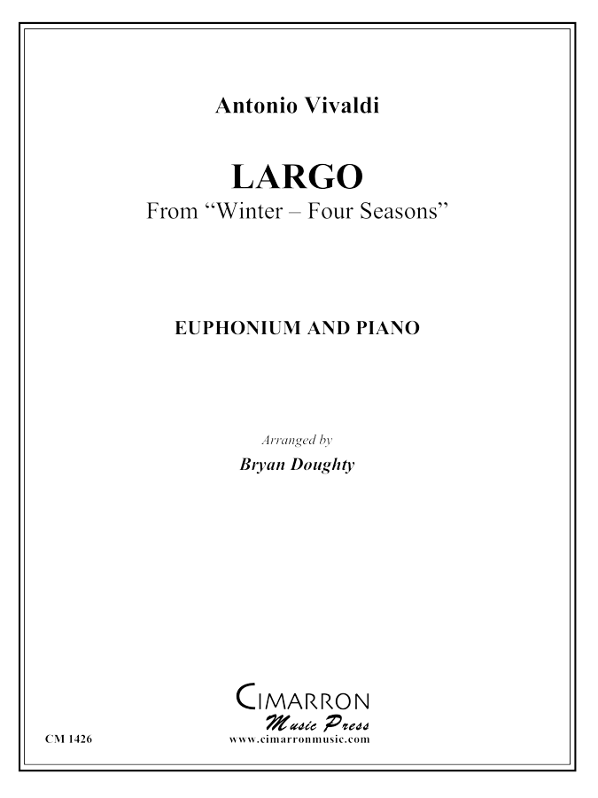 Vivaldi - Largo from Winter - Four Seasons - Euphonium and Piano